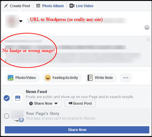 Wordpress links on Facebook
